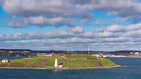 Halifax Nova Scotia, Canad? - 28 DE MAYO DE 2019: Paisaje urbano y fortaleza de la costa atl?ntica de Halifax almacen de metraje de vídeo