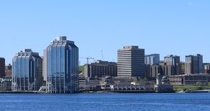 Halifax Nova Scotia horisont i morgonen 4K stock video