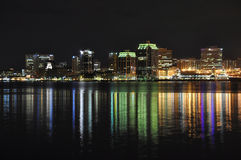 Halifax Nova Scotia at night Stock Image