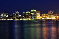 Halifax Nova Scotia at night in July royalty free stock images