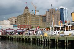 Halifax, Nova Scotia waterfront royalty free stock photography
