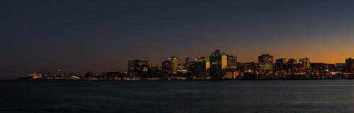 Halifax på natten Royaltyfri Bild