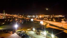 Halifax på natten Arkivfoton