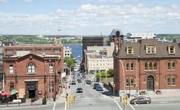 Halifax prins Street Royaltyfri Fotografi