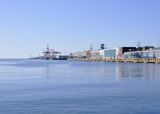 Halifax Seaport. Seen from the ocean, Halifax Nova Scotia Canada Royalty Free Stock Photos