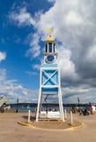 Halifax sjö- varvklocka royaltyfri fotografi