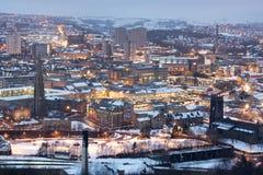Halifax in Sneeuw Stock Foto's
