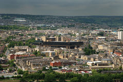 Halifax Town. Centre in the Calder valley stock photo