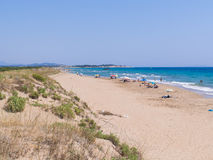 Halikunas beach Korfu - Greece Stock Photos