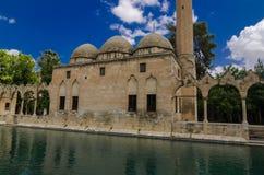 Halil -halil-ur Rahman Mosque, Heilig Meer (Vissenmeer), Urfa Royalty-vrije Stock Foto's
