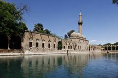 Halil-ur Rahman Mosque e lago santamente, Baliklikoy, Sanliurfa, Turquia Fotografia de Stock Royalty Free