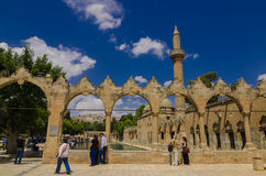Halil-ur Rahman Mosque, Holy Lake (Fish Lake), Urfa Royalty Free Stock Photography