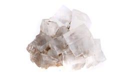 Halite salt cubes. Isolated on the white background stock image