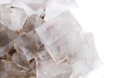 Halite zoute kubussen royalty-vrije stock afbeeldingen