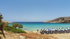 Halki är en ö av fred och kamratskap royaltyfria foton