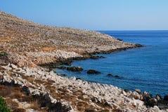 Halki coastline, Greece Royalty Free Stock Photos
