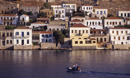 Halki-Dodecanese (Greece). Halki is a Greek island and municipality in the Dodecanese archipelago in the Aegean Sea Royalty Free Stock Images
