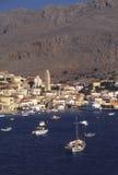 Halki-Dodecanese (Greece). Port of Chalki island, Greece Stock Photography