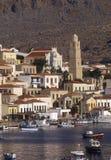 Halki-Dodecanese (Greece). Port of Chalki island, Greece Royalty Free Stock Images