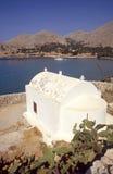 Halki-Dodecanese (Greece). A small white church on the island of Halki, Greece Stock Image