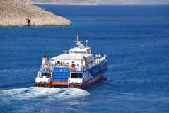 Halki ferry departure, Greece Stock Photography