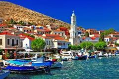 Halki - ilha grega tradicional Fotografia de Stock