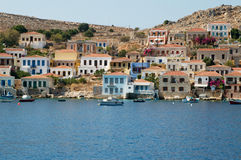 Halki island architecture Stock Images