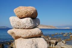 Halki wyspy kamienie Zdjęcie Royalty Free