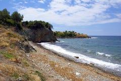 halkidiki береговой линии стоковые изображения rf