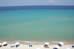 halkidiki Греции пляжа Стоковая Фотография