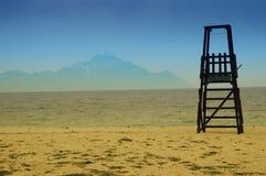 Halkidiki, Griechenland mit Montierung Athos auf Hintergrund Lizenzfreies Stockfoto