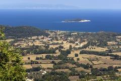 Halkidiki-Landschaft, Chalkidiki, Zentralmakedonien Stockfotos