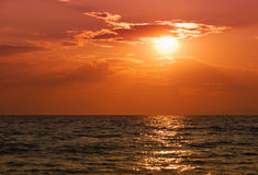 Halkidiki sunset Royalty Free Stock Photos