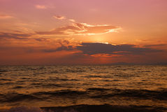 Halkidiki twilight Royalty Free Stock Photography