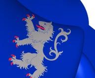Halländsk flagga, Sverige royaltyfri illustrationer