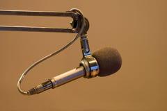 hallåmanmikrofon Arkivfoto
