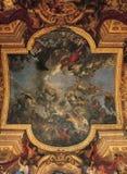Hall дворца Версаль потолка зеркал стоковое фото rf