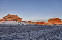Hall высшей сработанности в Forbidden City стоковое изображение
