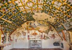 Hall в замке Torrechiara Италия Стоковые Изображения RF