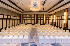 Hall или конференц-зал с строкой свободного места Стоковое Изображение