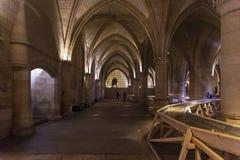 Hall предохранителей старого королевского замка Conciergerie стоковое изображение rf