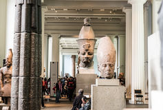 Hall древнего египета, великобританского музея, Лондона стоковые изображения