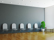Hall с стулами около стены Стоковые Изображения