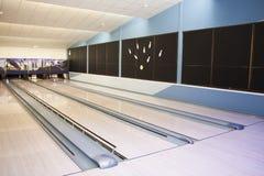 Hall для игры в боулинге Стоковая Фотография
