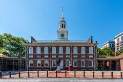 Независимость Hall Филадельфии историческая и торговый центр стоковое изображение rf