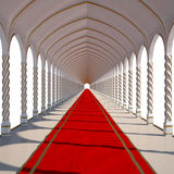 Hall. Long antique hall with red carpet. isolated on white royalty free illustration