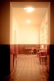 Hall. Of a hotel of early twentieth century with a piano at the bottom Stock Photography