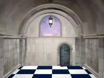 The hall. Wonderland series - The hall - Digital painted illustration stock illustration