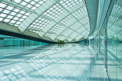 Hall. Bright hall of airport in Beijing, China Royalty Free Stock Image