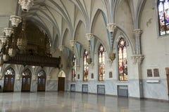 Hall of abandoned German Catholic church Royalty Free Stock Photos
